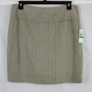 Michael Kors Skirt/Brown/Cream/Size: 16 (494)